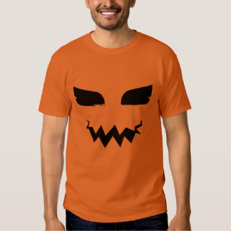 Pumpkin Jack o Lantern Halloween Scary Face Tee Shirts