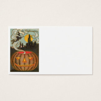 Pumpkin Jack O Lantern Witch Full Moon Business Card