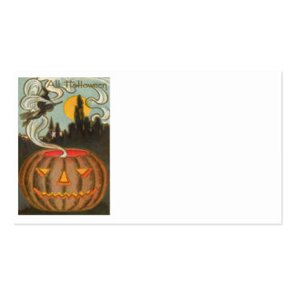 Pumpkin Jack O Lantern Witch Full Moon Pack Of Standard Business Cards