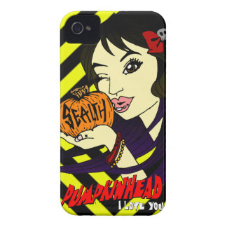 Pumpkin Kiss iPhone 4 CaseMate Case