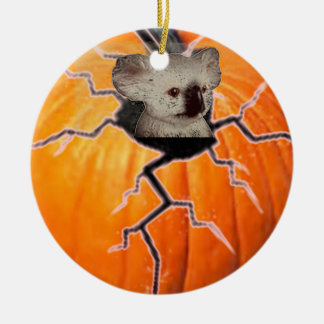 Pumpkin Koala Ceramic Ornament