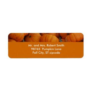 Pumpkin Label Return Address Label