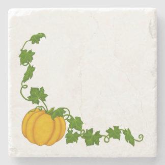 Pumpkin Leaves and Vine Stone Coaster