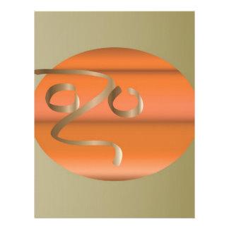 pumpkin letterhead design