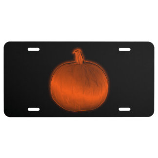 Pumpkin License Plate