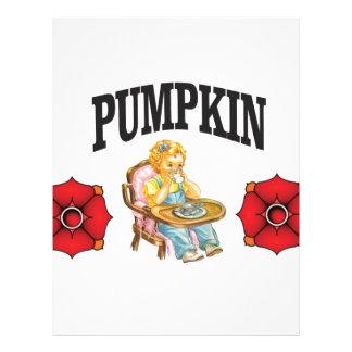 pumpkin little girl letterhead design