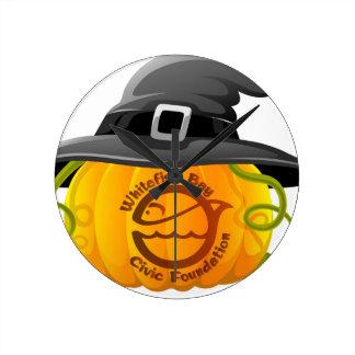 Pumpkin Logo 2016 Round Clock