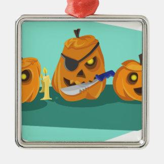 pumpkin metal ornament
