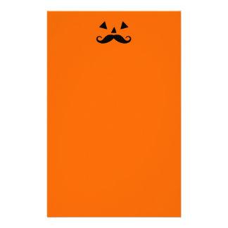 Pumpkin Moustache Stationery