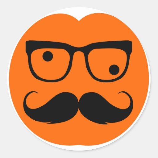 Pumpkin mustache sticker