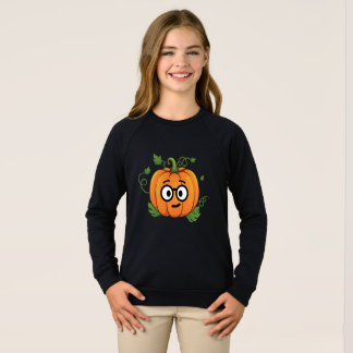 Pumpkin Nerd Emoji Thanksgiving Halloween Sweatshirt