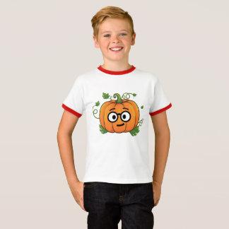 Pumpkin Nerd Emoji Thanksgiving Halloween T-Shirt