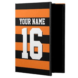Pumpkin Orange Black Team Jersey Preppy Stripe