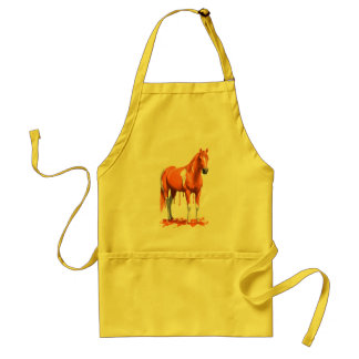 Pumpkin Orange Dripping Wet Paint Horse Standard Apron