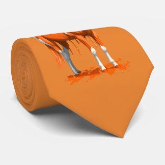 Pumpkin Orange Dripping Wet Paint Horse Tie