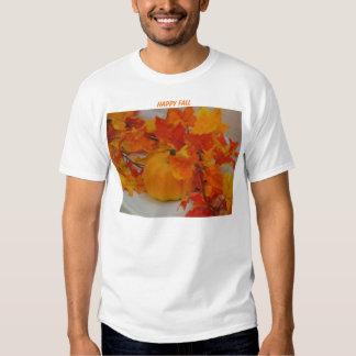 Pumpkin&Orange Leaves Arrangement, HAPPY FALL Shirts