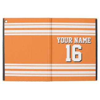 Pumpkin Orange Wht Team Jersey Custom Number Name