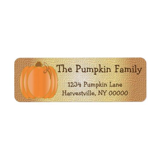 Pumpkin Party Return Address Label