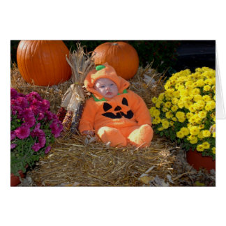 Pumpkin Patch Baby Card