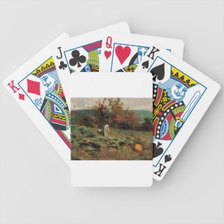 pumpkin-patch bicycle playing cards