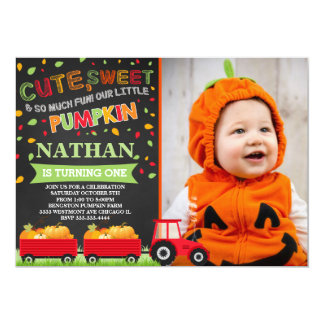 Pumpkin patch birthday invitation fall birthday