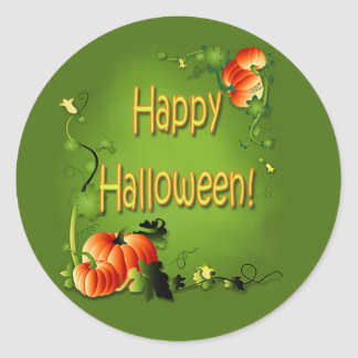 PUMPKIN PATCH by SHARON SHARPE Classic Round Sticker