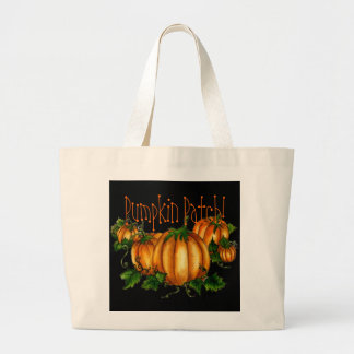 PUMPKIN PATCH! by SHARON SHARPE Large Tote Bag