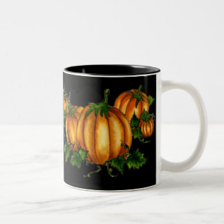 PUMPKIN PATCH by SHARON SHARPE Two-Tone Coffee Mug