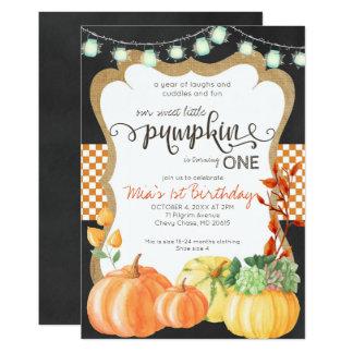 Pumpkin Patch First Birthday Invitation