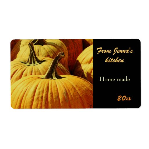 pumpkin patch harvest special gourmet canning shipping labels