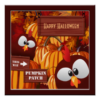 Pumpkin Patch Kid's Halloween Poster Perfect Poster