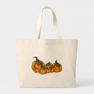 pumpkin patch large tote bag