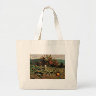 pumpkin-patch large tote bag