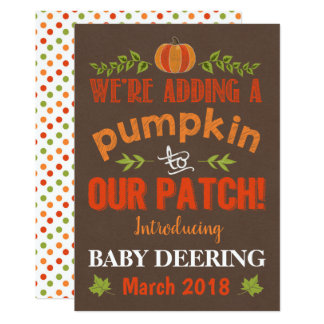 Pumpkin Patch Pregnancy Announcement