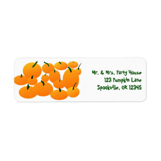 Pumpkin Patch Return Address Label
