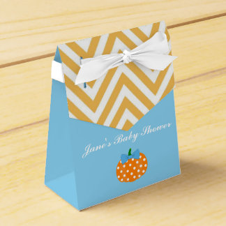 Pumpkin Patch Themed Boy Baby Shower favor Box