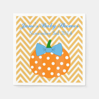 Pumpkin Patch Themed Boy Baby Shower Napkins Paper Napkins