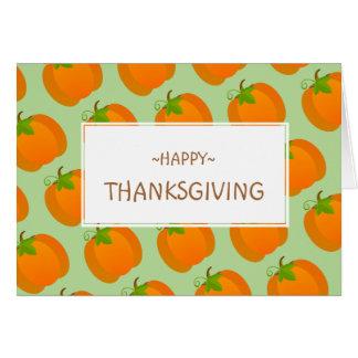 Pumpkin pattern card