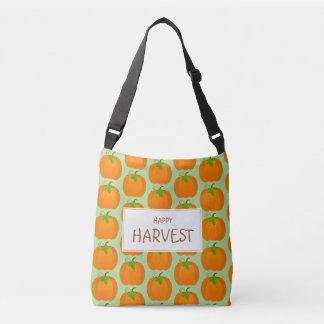 Pumpkin pattern crossbody bag