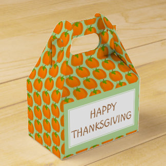 Pumpkin pattern favor box