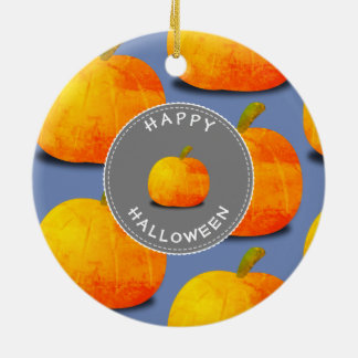 Pumpkin Pattern Halloween Ceramic Ornament