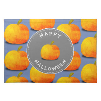Pumpkin Pattern Halloween Placemat