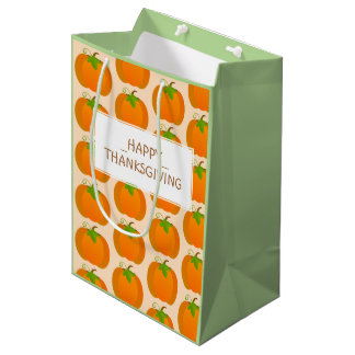 Pumpkin pattern medium gift bag
