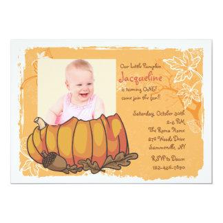 Pumpkin Photo Invitation