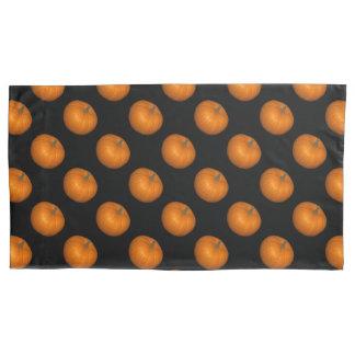 Pumpkin Photo on Black Background Pattern Pillowcase