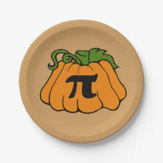 Pumpkin pi day paper plate