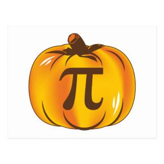 Pumpkin Pi - Happy Halloween Postcard