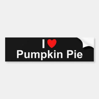 Pumpkin Pie Bumper Sticker
