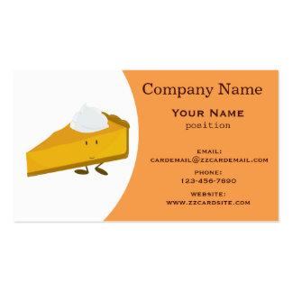 Pumpkin pie business card
