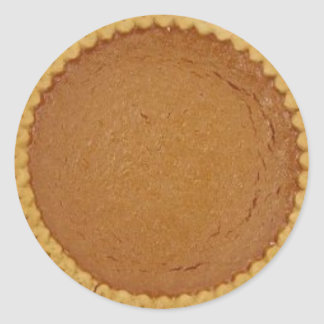 Pumpkin Pie Classic Round Sticker